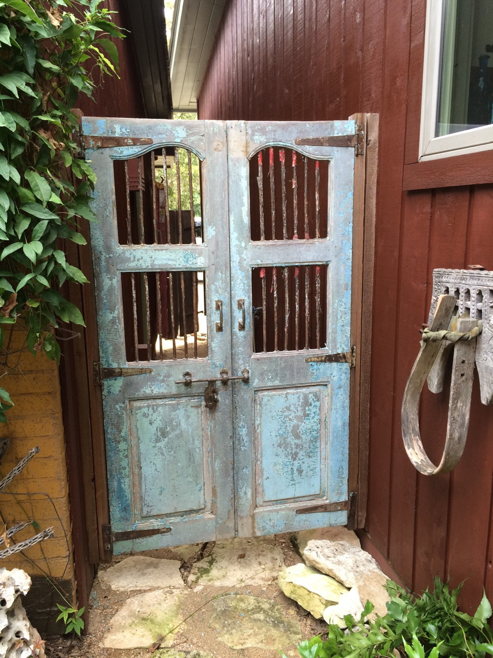 Antique Teak Doors. Used as Garden Gate. - Finished Projects Baba One Of A Kind